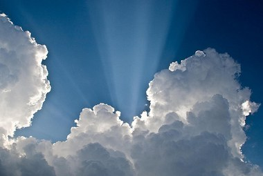 Photo of clouds and sun rays