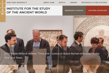 Screenshot of Institute for the Study of the Ancient World homepage
