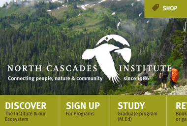 Screenshot of North Cascades Institute homepage