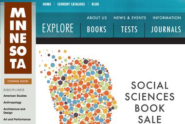 Screenshot of University of Minnesota Press website